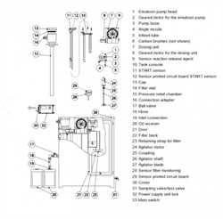 Bekomat 2002623 Spare part BEKOSPLIT 11 gear motor for Emulsion pump Image