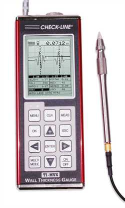 Checkline TI-PVX  Thickness Gauge With 10mhz Pencil Probe Image