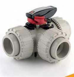 FIP Italy LKDDM Series DN 15÷50  DUAL BLOCK® 3-way Ball Valve Image